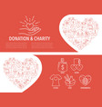 donation banner template vector image vector image