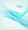 elegant flowing blue wave design on transparent vector image