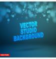 empty dark blue studio background layered vector image vector image