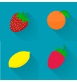 flat - juicy fruit fruit set vector image vector image