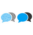 forum chat composition of binary digits vector image vector image