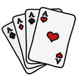 four poker aces vector image vector image