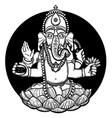 ganesha hindu god elephant vector image