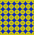 geometric seamless pattern with circles squares vector image