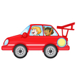 girls in a car vector image vector image