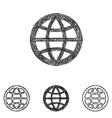 Globe icon set - sketch line art vector image vector image