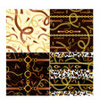 golden chains and animalistic print vector image vector image
