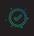 good icon design vector image