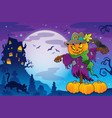 halloween scarecrow theme image 5 vector image vector image