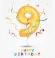 happy birthday celebration greeting card vector image vector image