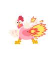 hot spicy chicken farting fire creative logo vector image vector image