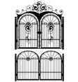 Iron Gate Silhouette3 vector image