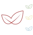 Leaf Set of line icons vector image vector image