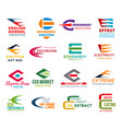 letter e corporate identity business icons vector image vector image