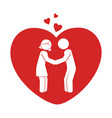 love couple silhouette icon vector image