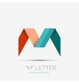 M letter company logo minimal design vector image