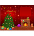merry christmas greeting card design with empty vector image vector image