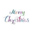 Merry Christmas Lettering Color 2 vector image