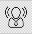 mind awareness icon in transparent style idea vector image