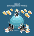 online business negotiation concept vector image