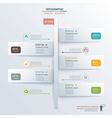 paper tab timeline infographic vector image vector image