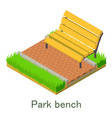 park bench icon isometric style vector image