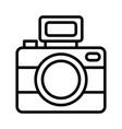 photo camera icon on white background vector image
