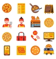 Pizza colored set vector image