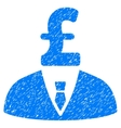 Pound Businessman Grainy Texture Icon vector image vector image