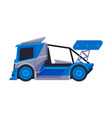 racing truck blue fast heavy vehicle freight vector image
