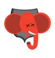 red elephant hunter trophy democrat in office of vector image vector image