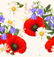 red poppies seamless vector image vector image
