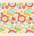 Retro style summer flower seamless pattern in