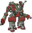 robot warrior vector image vector image