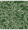 Seamless Leaves Engraving Pattern vector image vector image