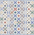 seamless pattern of hydraulic tiles typical of vector image