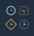 set clock icon flat design element vector image vector image