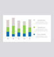 set green and blue elements for infographic vector image