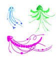 set of cartoon jelly fish for children in vector image vector image