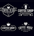 set of coffee shop logotype templates coffee vector image vector image