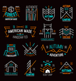 Set of retro vintage badges vector image vector image