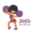 Smiling beautiful sporty teenager cheerleader girl vector image vector image
