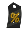Tag percentage icon cartoon style