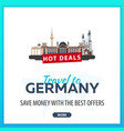 travel to germany travel template banners for vector image