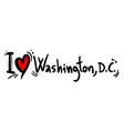 washington love vector image vector image