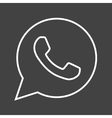 Whatsapp vector image vector image