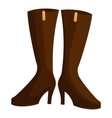 Woman boots icon cartoon style vector image