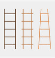 wooden ladder set vector image vector image