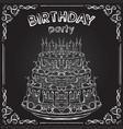 birthday cake on the chalkboard vector image