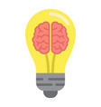 business idea flat icon business and creativity vector image